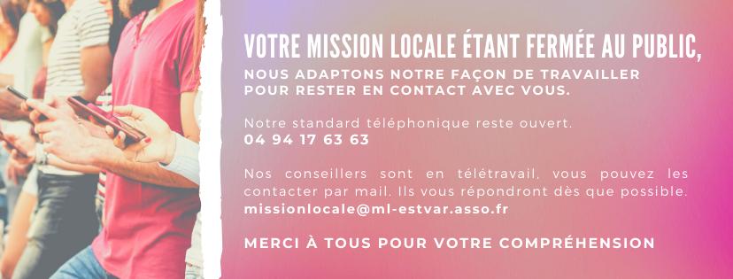 Infos coronavirus mission locale est var - Mission locale portes de provence ...